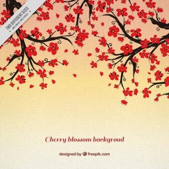 装飾的な桜の木の背景