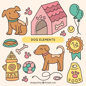図面の犬の要素