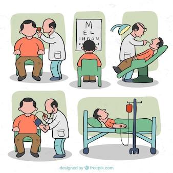 医療状況のイラスト