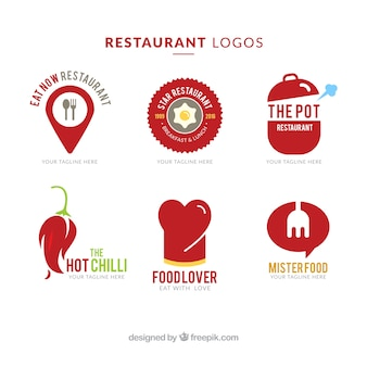 Ресторан красный логотипы