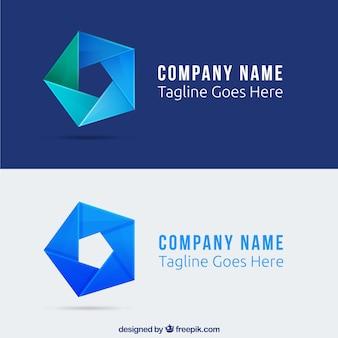 抽象五角形のロゴ