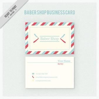 Парикмахерская визитная карточка в стиле ретро