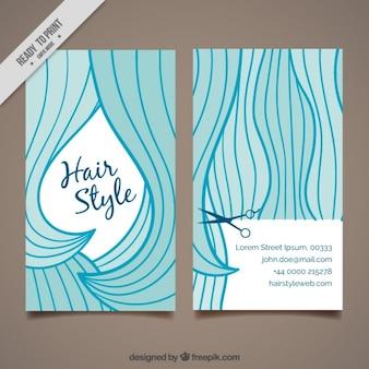 Смешные длинные волосы дизайн парикмахерское карты