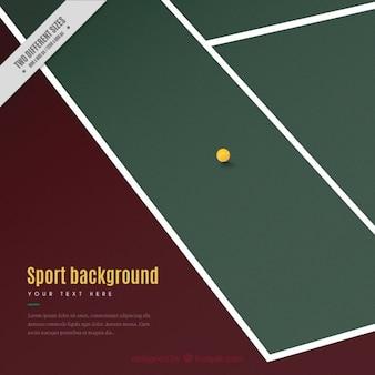 ボール背景を持つテニスコート