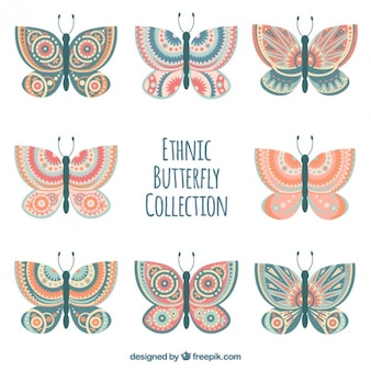 Красивые этнические бабочки пакет