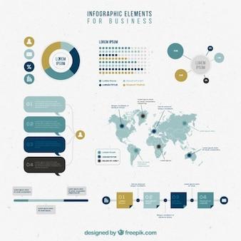 Инфографики элементы, установленные для бизнеса