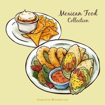 Эскизные вкусно мексиканскую меню