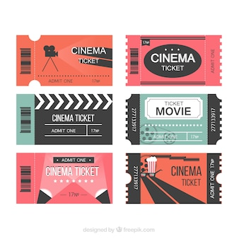 現代の映画のチケット