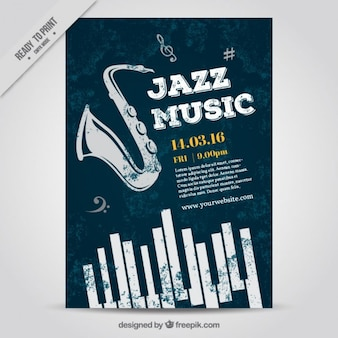 ジャズ音楽ポスター