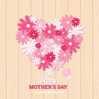 ピンクの花とかわいい母の日の背景