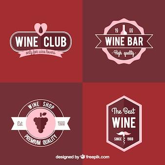 Коллекция вина этикетки в стиле винтаж