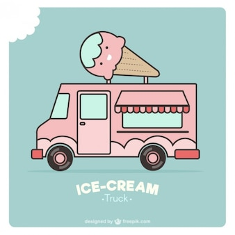 Дизайн еда грузовик мороженое