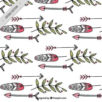 手描き羽と自由奔放に生きるスタイルでパターンを残します