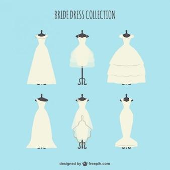 エレガントな花嫁のドレスのコレクション
