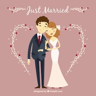 カップルは、ちょうど結婚します