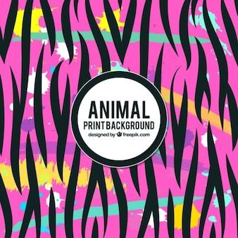 黒の動物のストライプ抽象的なピンクの背景