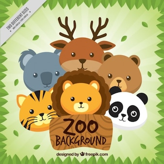 ニースの動物園の背景