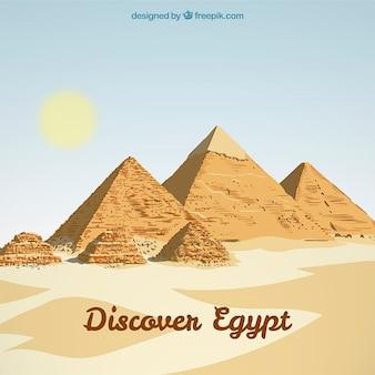 エジプトの風景の背景
