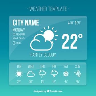 Шаблон приложение погода в простом стиле