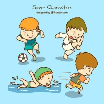 健康的なスポーツのキャラクター