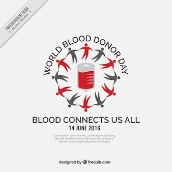 世界の血液ドナー日灰色の背景