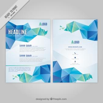 Абстрактные бизнес листовка