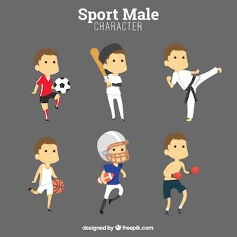 スポーツ男性の文字