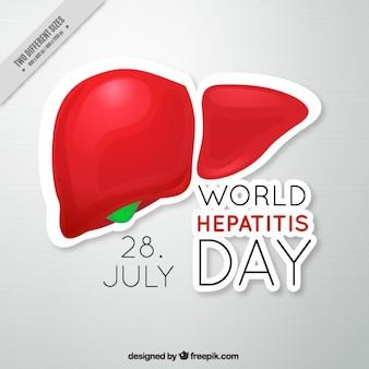 Гепатит день фон