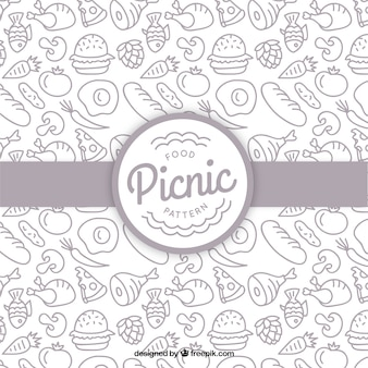 Рука рисунок еды обращается для пикника