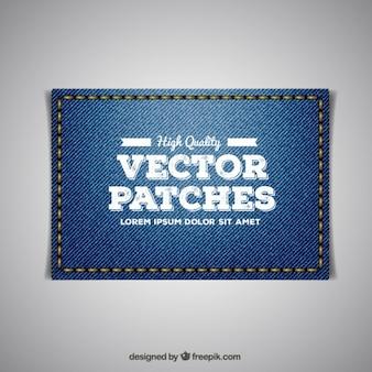 刺繍ジーンズパッチ