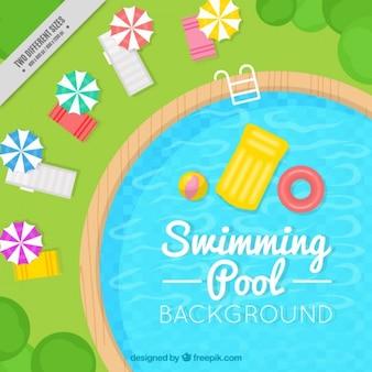 Стильный плавательный бассейн фон