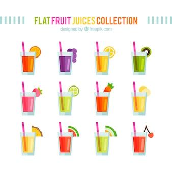 Плоский сбор фруктовые соки
