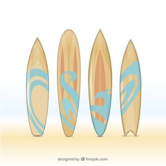 手描き木製サーフボード