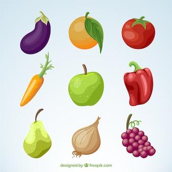 野菜や果物のパック