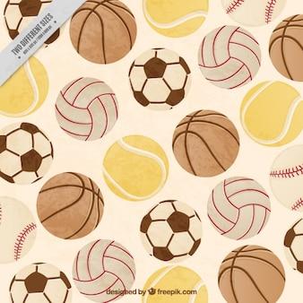 ヴィンテージフラットバックグラウンドフルスポーツボール