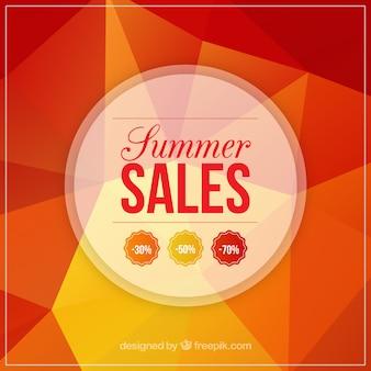 Оранжевый фон продажи в многоугольной стиле