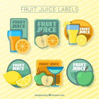 かわいいフルーツジュースのラベル