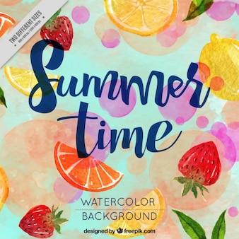 オレンジとレモンの夏の背景