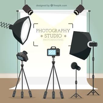 写真スタジオの背景