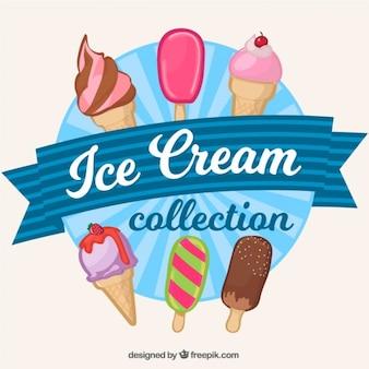 Коллекция рисованной мороженое