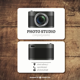 カメラと写真スタジオカード
