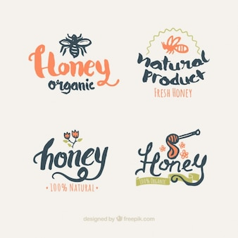 蜂蜜のロゴデザイン