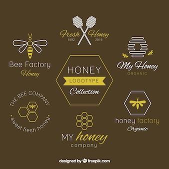 フラット蜂蜜ロゴタイプ