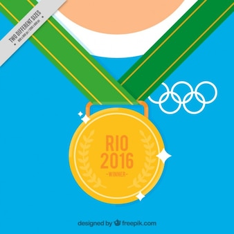 Фон олимпийскую золотую медаль