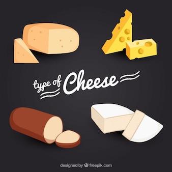 Вид вкусного сыра