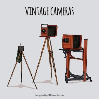 Рисованной старинные фото оборудование