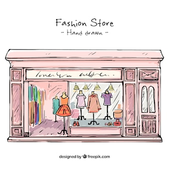 スケッチヴィンテージファッション店