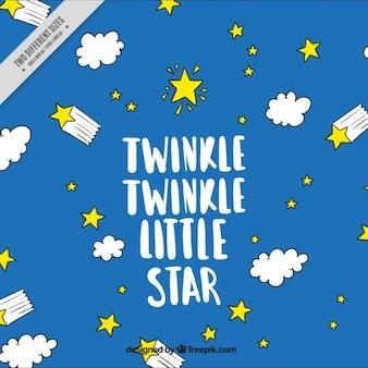 小さな星をキラキラ、背景