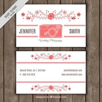 Фото визитные карточки с цветочными формами