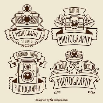 ヴィンテージの写真のカメラとロゴ